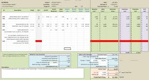 estimating excel on estimating there are three basic sections to the takeoff sheet the figure above shows two of them the data entry area assemblies and manual line items and the area