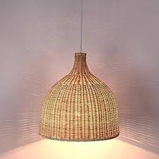 Arturesthome <b>Rattan Pendant Light</b>, Handmade Basket Lamp ...