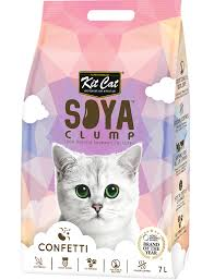 <b>Kit Cat Soya</b> Clump Cat Litter 7L (Confetti) | PerroMart SG