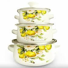 НОВЫЙ <b>Набор эмалированной посуды 6</b> предметов – купить в ...