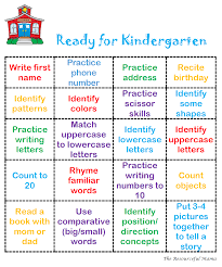 ready for kindergarten bingo the resourceful mama printable bingo card to help get your preschooler ready for kindergarten