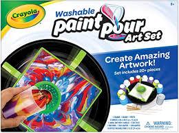 Crayola Washable <b>Paint</b> Pour Set, <b>Paint</b> Set, <b>20 Pcs</b>, Gift for Teens ...