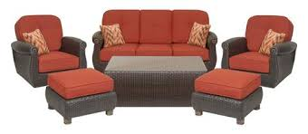 patio couch set breckenridge  piece patio furniture seating set two swivel rockers sofa coffee table