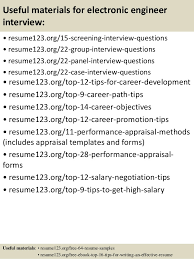 15 useful materials for electronic engineer electronic engineer resume sample