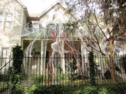 celebrate archives titan fence decorations scary fake spider web area with white exterior home design child friendly halloween lighting inmyinterior outdoor