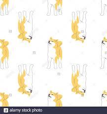 Repeat seamless <b>pattern</b> with flat <b>style</b> cute <b>shiba inu</b> dogs on white ...