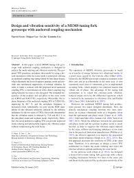 (PDF) <b>Design</b> and vibration sensitivity of a MEMS tuning fork ...