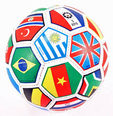 FanChants has chants from all over the world - this ball shows lots of flags