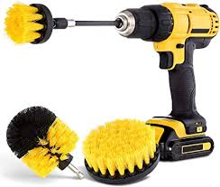 Drill Brush Attachment Set - Power Scrubber Brush <b>Cleaning</b> Kit - All ...