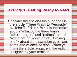the rhetoric of the op ed page ethos pathos logos ppt 3 activity