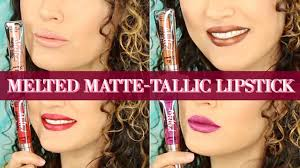 <b>TOO FACED</b> MELTED MATTE-TALLIC LIP SWATCHES | The Glam ...