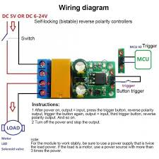Relays - <b>DR55B01 DC 5-24V 2A</b> Flip-Flop Latch Motor Reversible ...