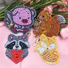 4pcs DIY Animals Full Drill Special Shaped <b>Diamond</b> Painting Bag ...