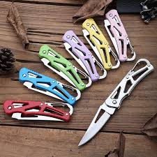 Stainless Steel Foldable Pocket Knife Mini <b>Portable Folding Knife</b> ...