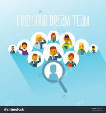 head hunting concept human resource recruitment stock vector head hunting concept human resource and recruitment for business finding your own dream team