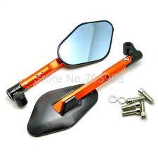 Alloy <b>Orange Motorcycle Mirror Rearview</b> Aluminum <b>Mirror</b> Rear ...