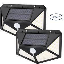 2Pack 80 COB LED <b>Solar</b> Power PIR <b>Motion Sensor Light</b> Outdoor ...