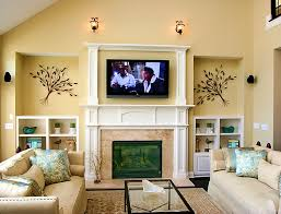 cream couch living room ideas: furnitureamusing tv above stone fireplace and living room ideas cream sofa small color decorating for on