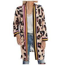 Didida Winter Coat for Women <b>Men</b>,<b>Fashion Stitching</b> Leopard Print ...