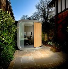 the officepod is a 7 by 7 foot prefab office with some innovative features the office itself has outlets internally and then a single electrical backyard office prefab
