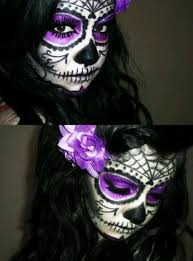 you can do day of the dead makeup with any color scheme the sky is the limit