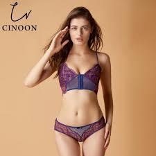 <b>CINOON Sexy Lingerie</b> Front Buckle <b>Underwear Bra Set</b> Lace ...