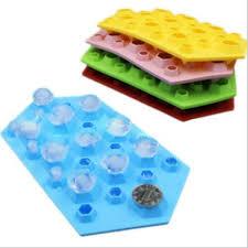 <b>Silicone Ice</b> Tray Diamond Jewels Shape <b>Ice</b> Cube Mould Mold <b>DIY</b> ...