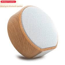 A60 <b>Wood Grain</b> Portable Wireless Speaker <b>Vintage Mini</b> Bluetooth ...
