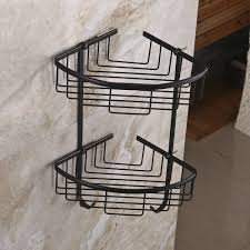 corner shampoo rack wall mounted brass double tiers corner shower caddies cosmetics organi