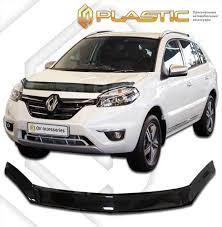 <b>Дефлектор капота CA</b> (мухобойка) Renault Koleos 2013-2016 ...