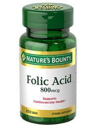 <b>Folic Acid</b> - <b>800</b> mcg (250 Tablets) | Nature's Bounty - Be Your ...