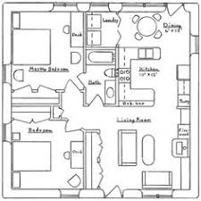 x sq ft Make the Veranda my glassed in atrium and grow     sq ft house plans   Square Earthbag Cottage   Earthbag House Plans