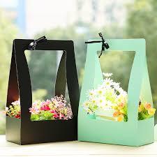 <b>Flower</b> Basket Paper Carton 5pcs Portable <b>Flowers</b> Packing Box ...