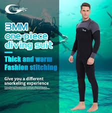 <b>YONSUB Neoprene</b> 3mm <b>Wetsuit</b> Long & Short sleeves <b>Diving</b> Suit ...