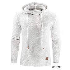 hooded sweatshirt jacket White M <b>Men's</b> Jackets & Coats Sale, Price ...