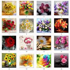 5D DIY <b>Diamond Flower</b> Arrangement Flower Vase Cross Stitch ...