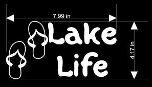 <b>Lake</b> Life <b>Vinyl</b> sticker available in several <b>vinyl</b> colors Décor Decals ...