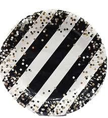 """10"""" Black & White with <b>Golden Dots Paper Plates</b> - 10ct: Amazon.in ..."""