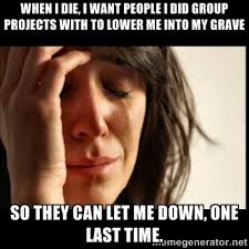 When I die, I want people I did group projects with to lower me ... via Relatably.com