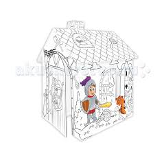 <b>Mochtoys Картонный домик-раскраска</b> Рыцарь - Акушерство.Ru