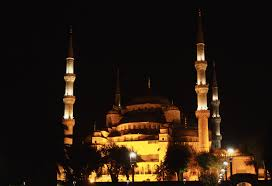 a short essay on istanbul istanbul s blue mosque at night