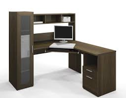 modern office desk and black stained wooden corner computer student l shaped walnut solid with cabinet home amazing diy home office desk 2 black