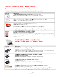 General Consumables for ALL <b>Kodak</b> Scanners <b>Kodak</b> i1200 and ...