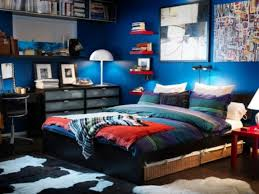 mesmerizing blue paint on the wall of room with black wooden beds and cute white umbrella awesome ideas 6 wonderful amazing bedroom