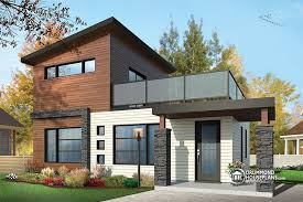 Modern Rustic House Plans  amp  Rustic Home Plans   Contemporary    Joshua  storey bedroom small and tiny Modern house   deck on nd floor