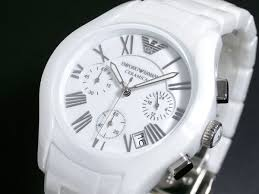 armani white ceramic mens watch 100% original ar1403 was new original armani men s white ceramic chrono watch ar1403