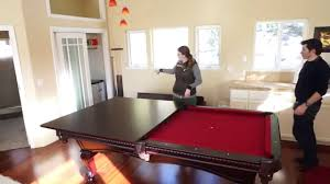 pool table dining tables: using the pool table dining table conversion top in the guest house youtube