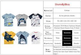 Loozykit Cotton <b>Boys T</b> Shirt Summer 2019 <b>Cartoon</b> Shark Printed ...