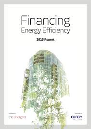 financing energy efficiency report com fee front cover image