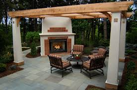 patio fireplace plans
